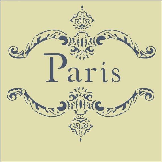 The Artful Stencil Paris Frame Stencil 10 x 9\