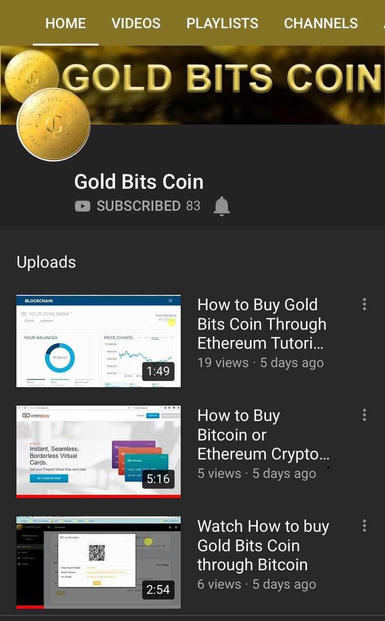 Subscribe to gold bits coin youtube channel for lots of helpful subscribe to gold bits coin youtube channel for lots of helpful videos such as how to purchase goldbitscoin gbc using btc how to purchase bitcoin ccuart Gallery