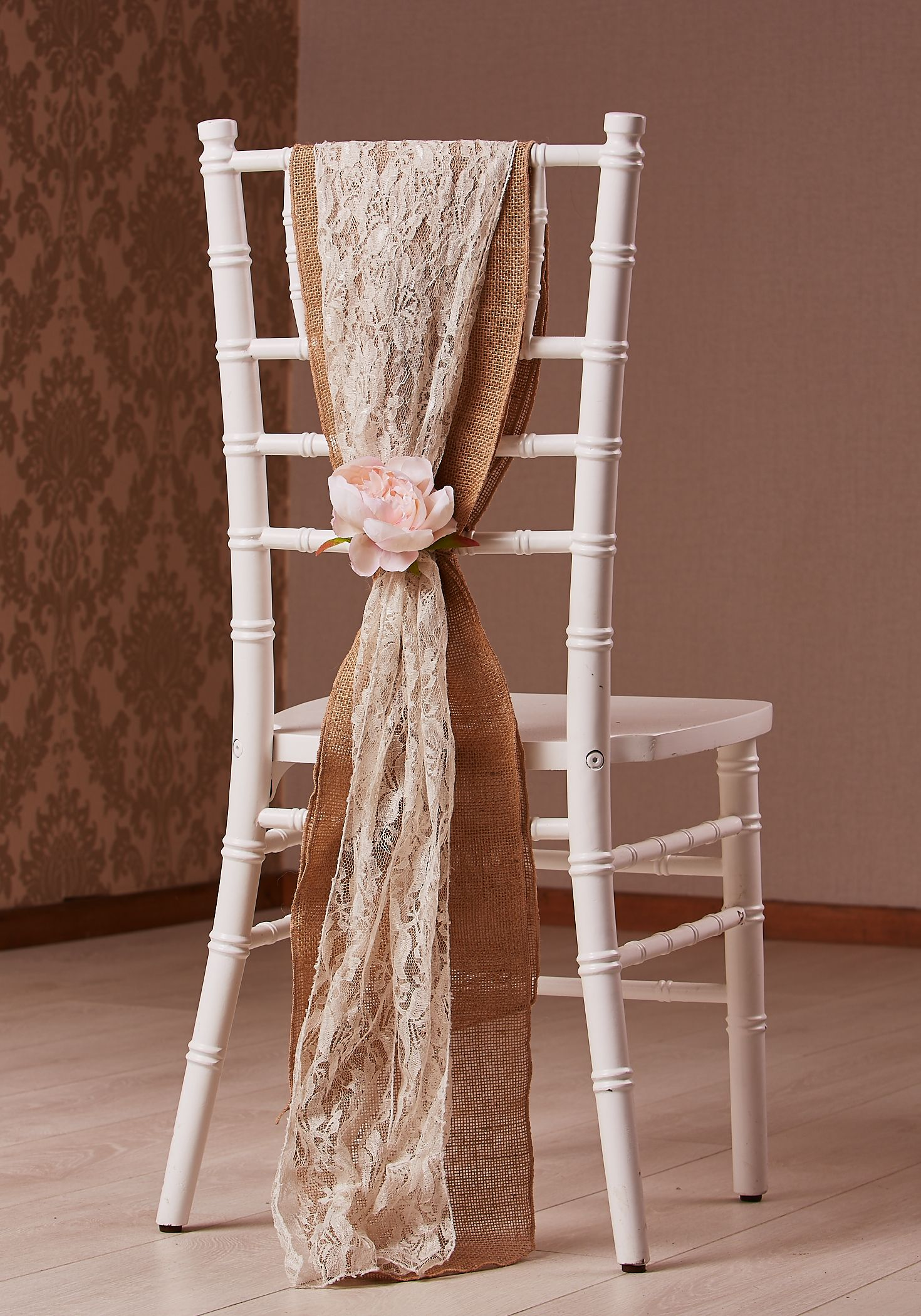 Chiavari Chair Styled With A Hessian And Lace Drop Sash Styled By