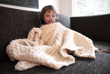 super chunky Easy blanket - Pickles | Knittin\' Y\'all | Pinterest ...