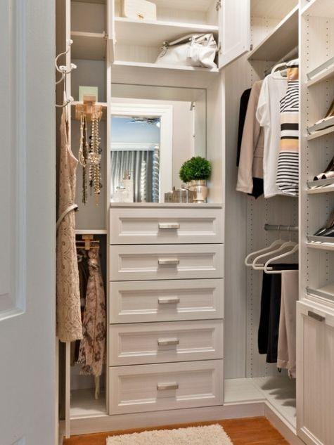 Small Walk In Wardrobe, Small Master Closet, Walk In Closet Design, Small  Closets