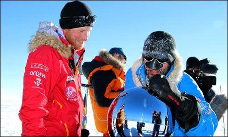 Prince Harry reaches South Pole