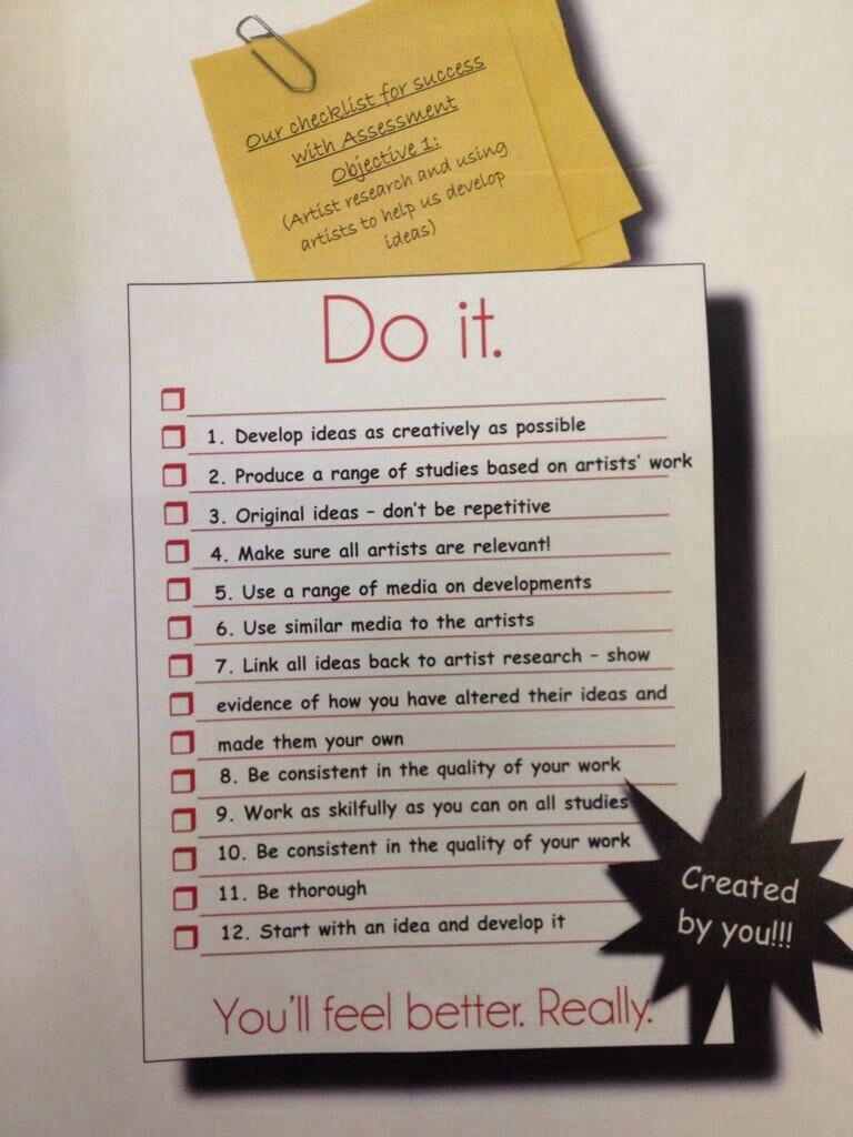 Ao1 success criteria gcse art sketch book art courses