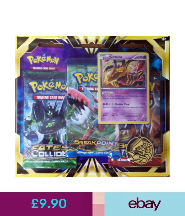 Pokemon Trading Card Game Pokemon Tcg 3 Pack Blister Giratina Card 3 Booster Packs Coin Brand Ebay Col Pokemon Tcg Pokemon Trading Card Game Pokemon