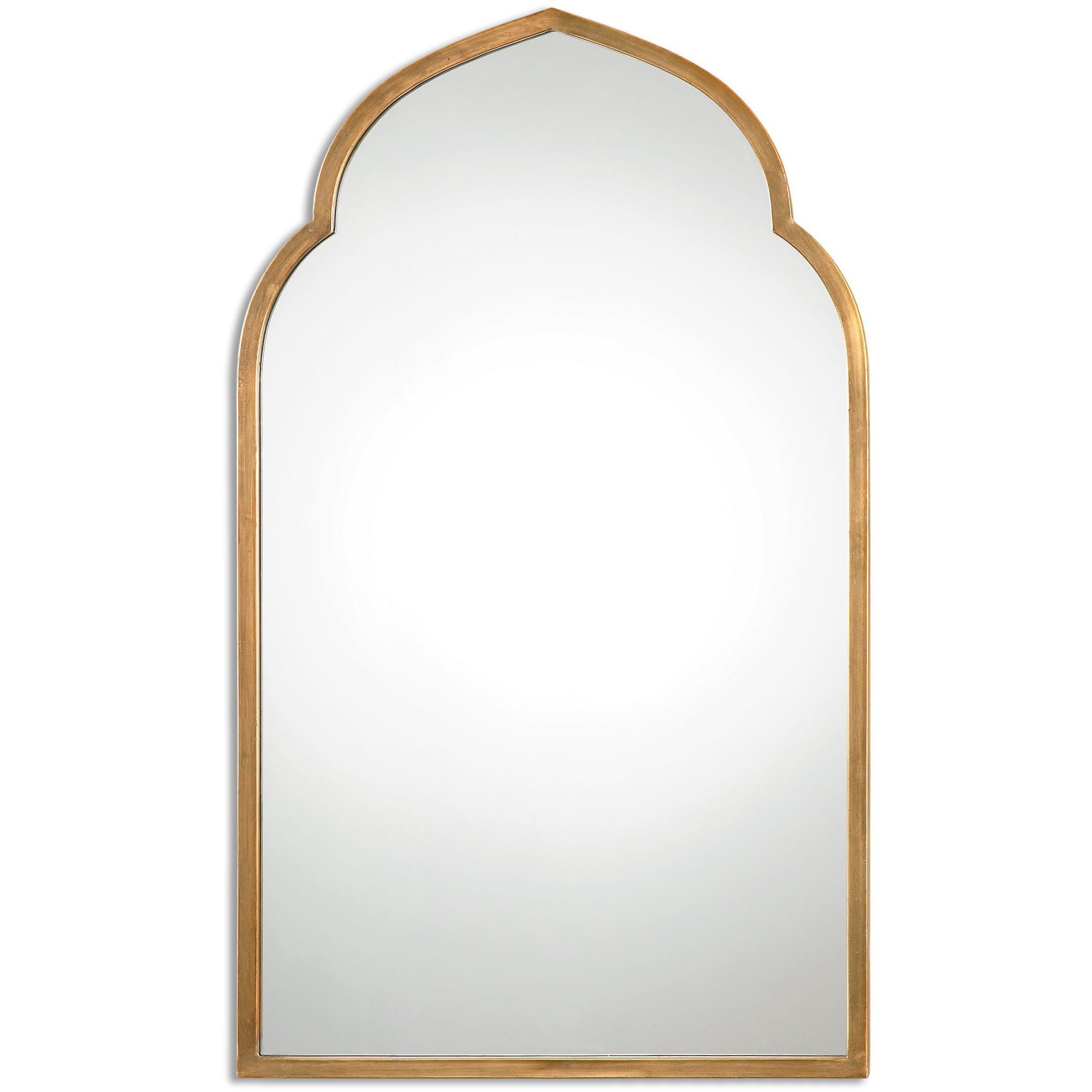 Uttermost Kenitra Gold Arch Decorative Wall Mirror by Uttermost