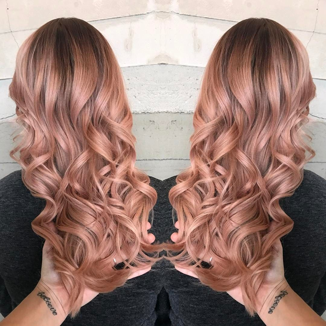 Metallic rose gold harttofcolor formula using all formula using all schwarzkopf colors applied on dry hair processed for 20 minutes nvjuhfo Image collections