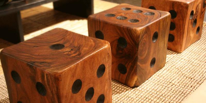 Dice Side Table Stool Tucker Robbins Wood Design