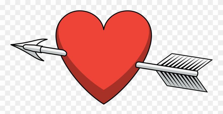 Heart Arrow Shaded Heart And Arrow Png Clipart Heart With Arrow Clip Art Love Png