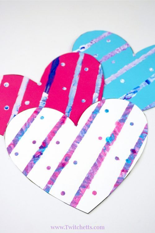 Painted Heart Paper Craft ~ Valentine\'s Day Crafts for Kids ...