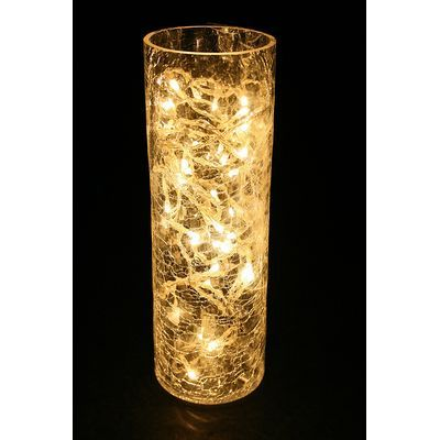 A Easy Holiday Decoration Lights In A Vase Vase With Lights Lighted Centerpieces Wedding Vases