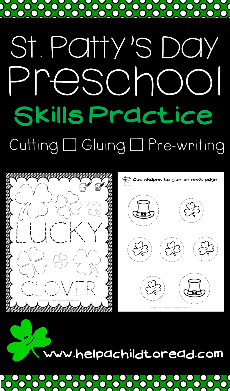 St. Patrick\'s Day Preschool Skills Pages