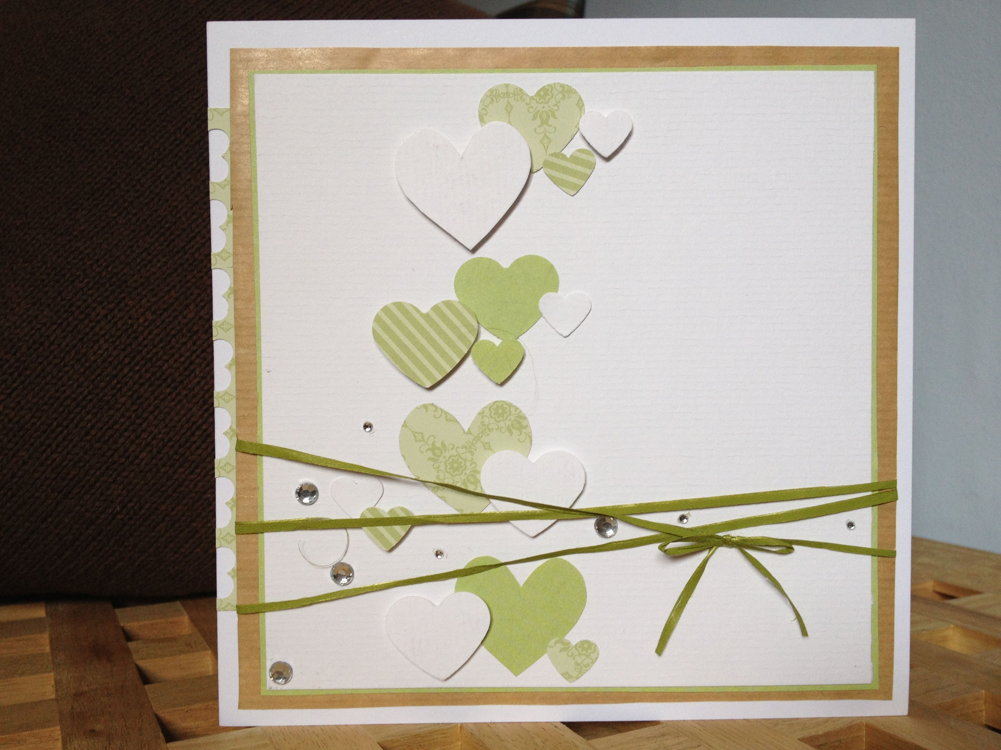 Zur Hochzeit: Grün   Weiß