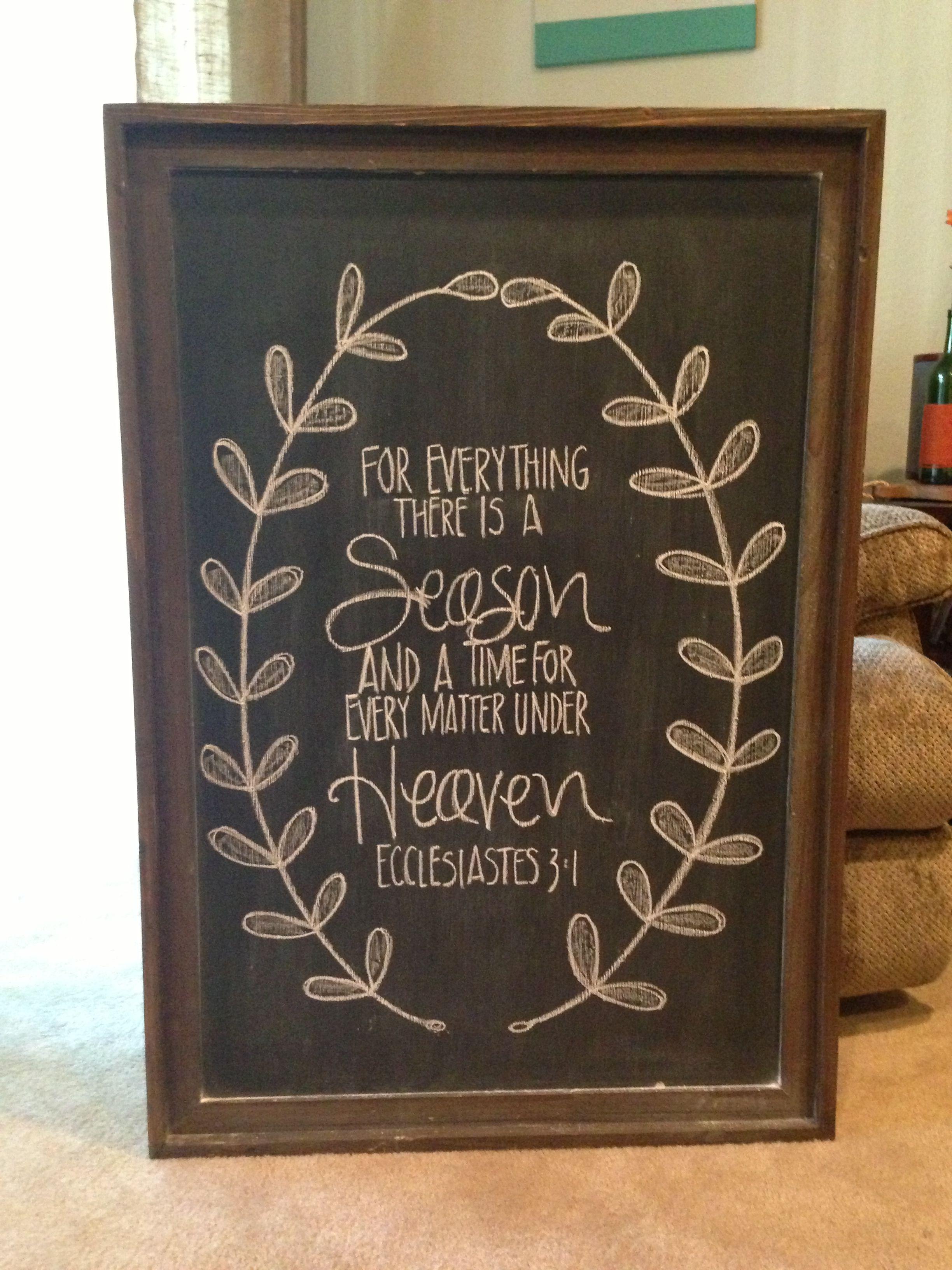 Bible verse chalkboard | Hey Kari Ann Lettering