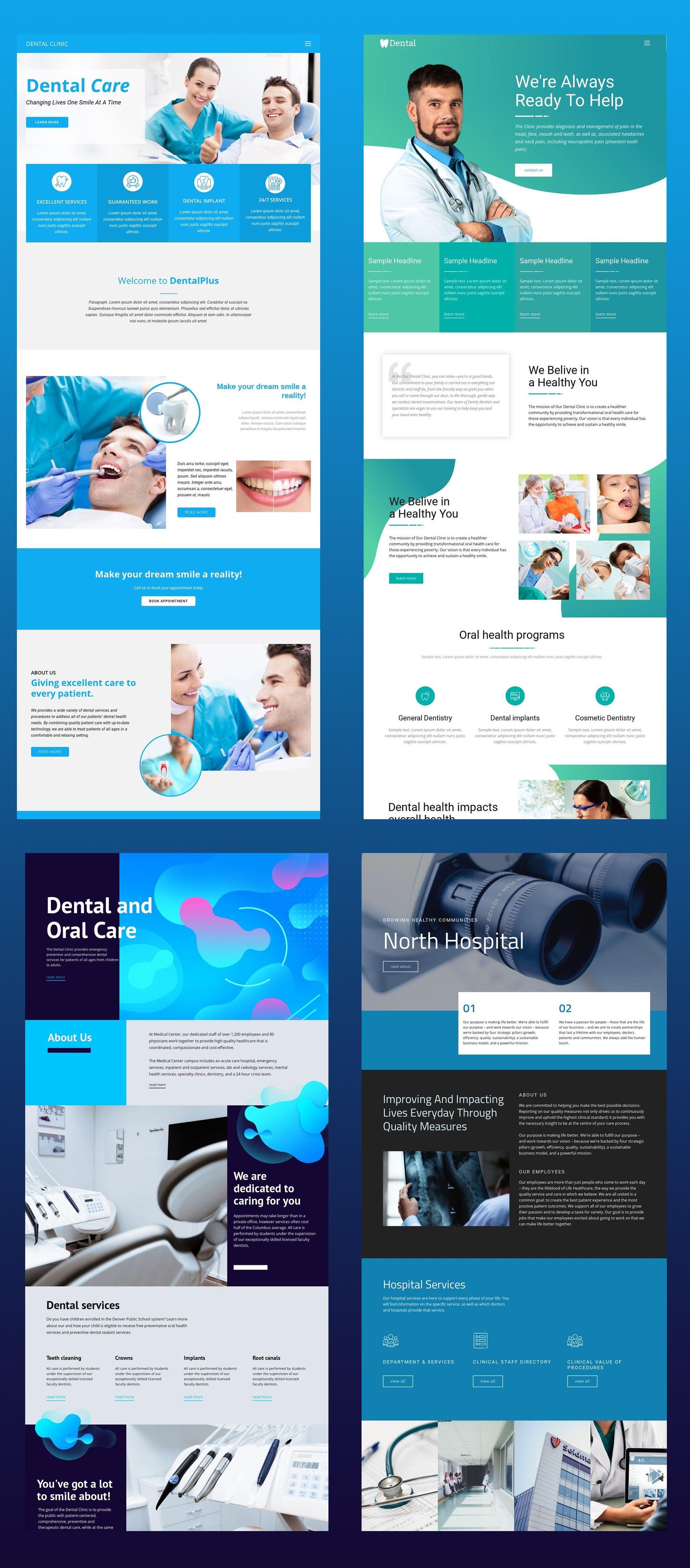 Free Templates By Nicepage Builder Medical Website Design Healthcare Website Web Design