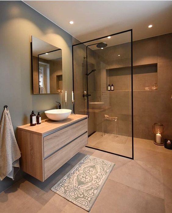 Moderne Duschabtrennungsmodelle gläsern #badeværelseinspiration