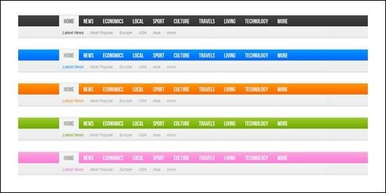 horizontal drop down navigation bar examples - Google Търсене ...