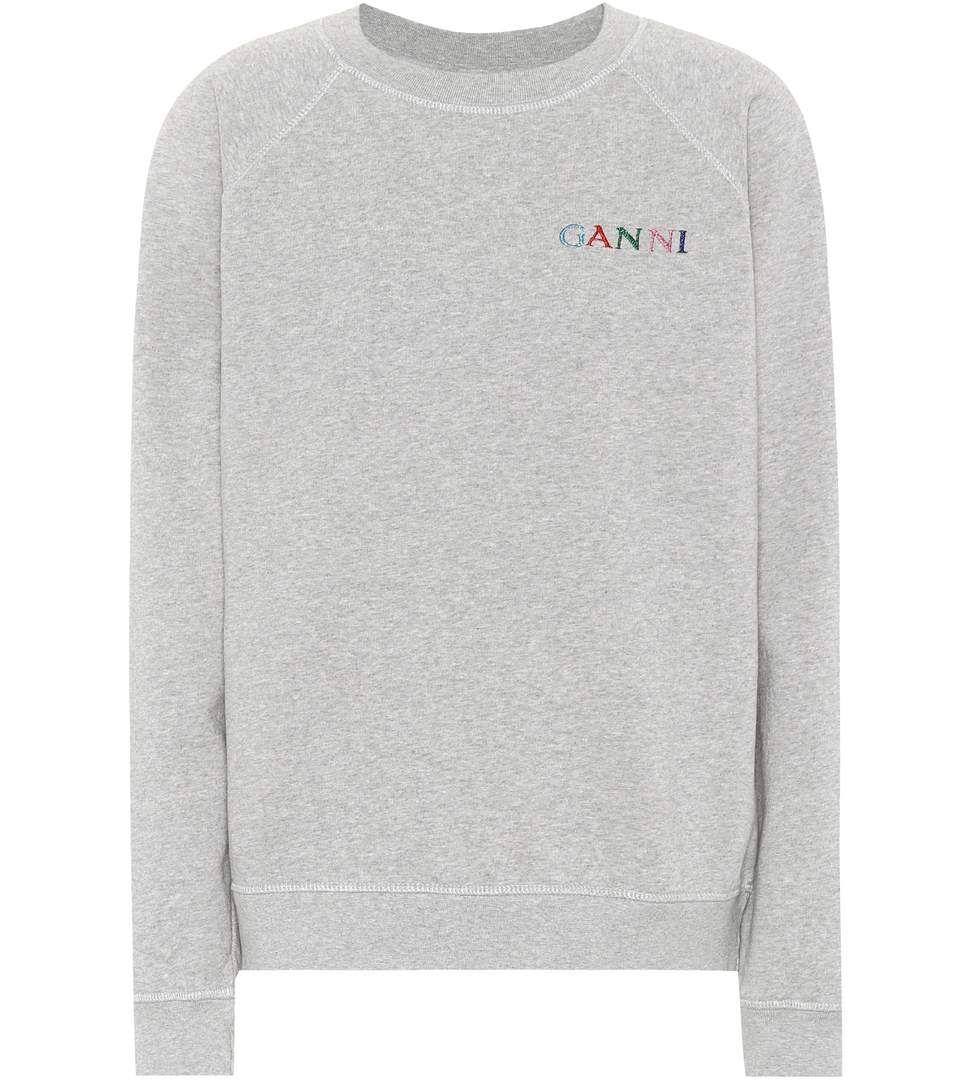 Ganni Lott Isoli Cotton Sweatshirt Ganni Cloth Toj Sodt [ 1088 x 962 Pixel ]