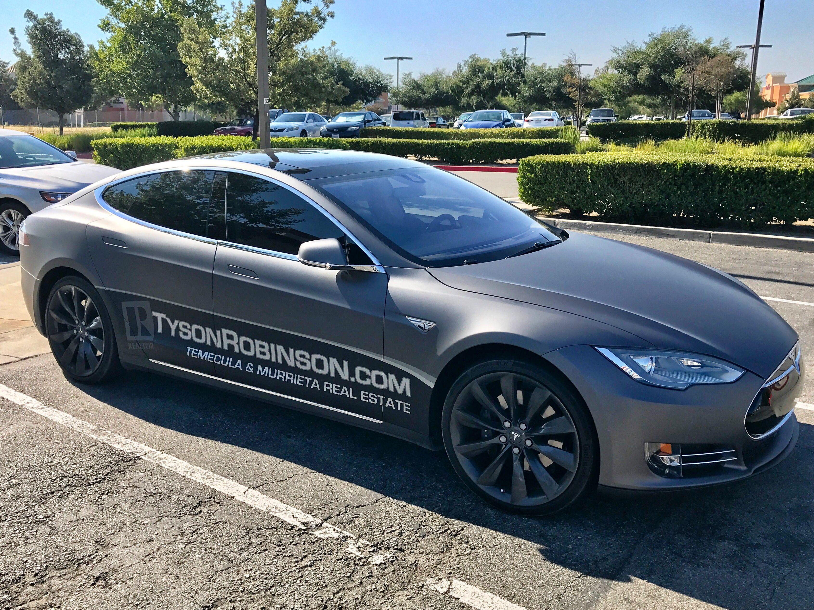 Tesla Model S With Matte Gray Wrap Www Tysonrobinson Com Temecula And Murrieta Real Estate Tesla Model S Tesla Model Tesla