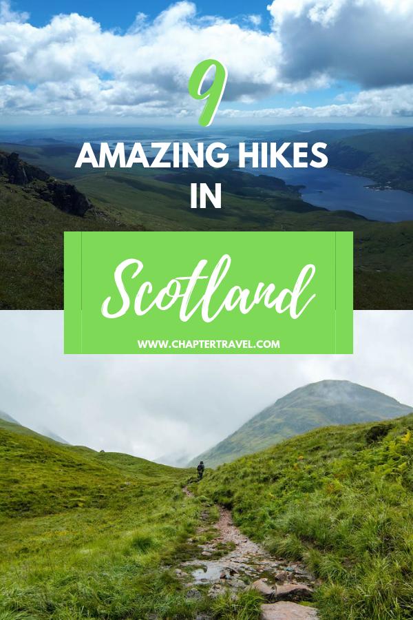 9 Amazing hikes in Scotland #travelscotland