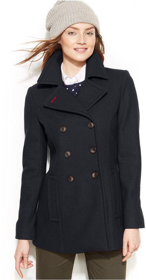 Double Breasted Pea Coat   Coats Shops and Pea coat