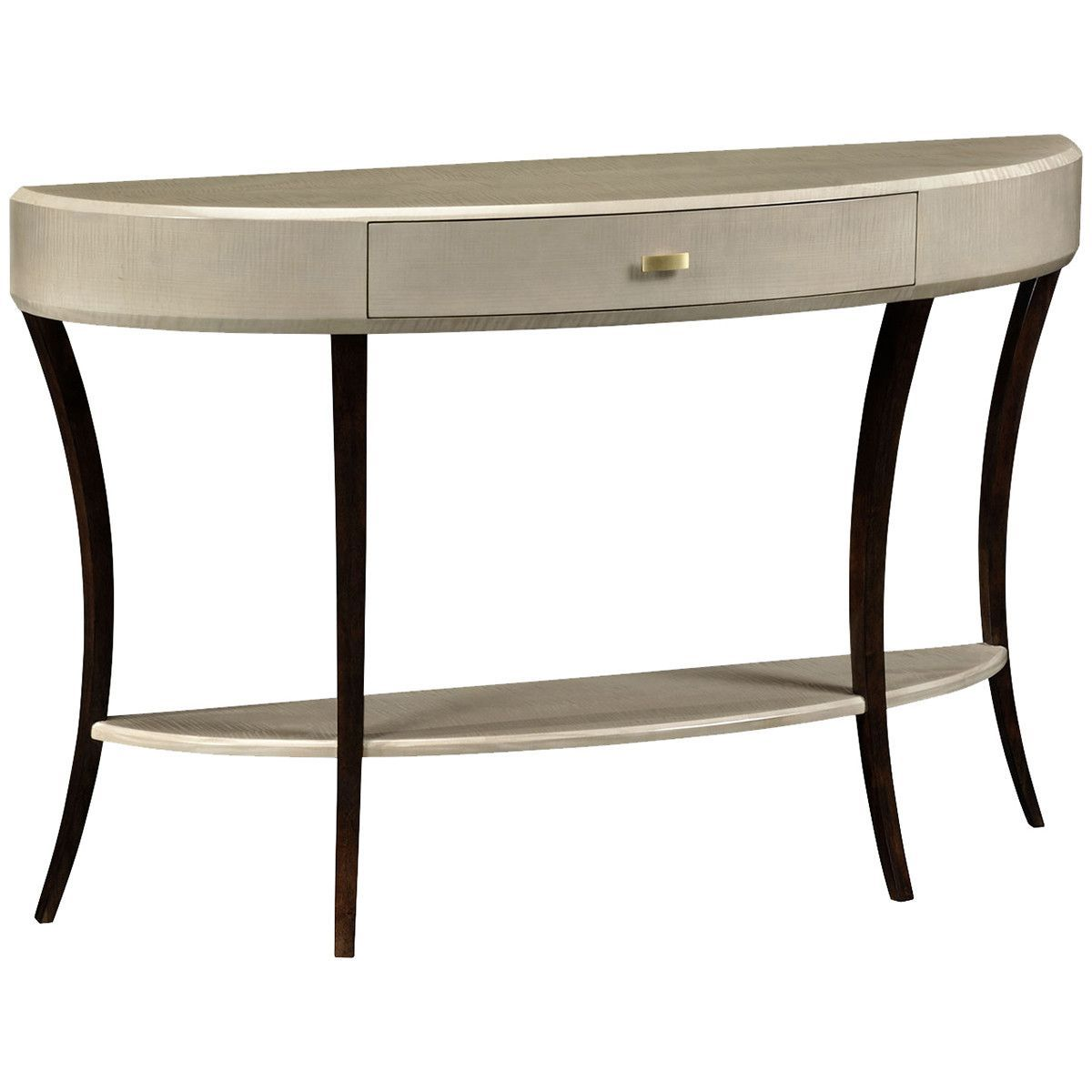Art deco hallway ideas  Jonathan Charles Opera Art Deco Large Demilune Console Table