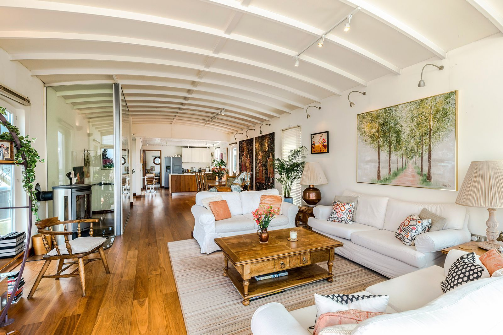 Amazing floating home with riverside views for sale in