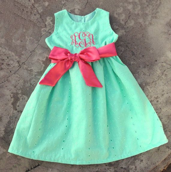 Monogrammed Baby girl clothes Personalized Baby Girls