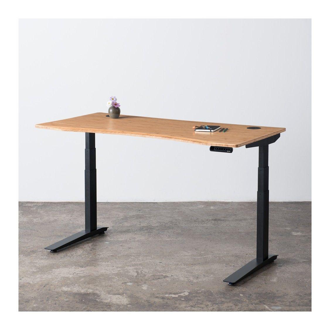 Jarvis Bamboo Adjustable Standing Desk Ergo Depot Standing Desk Frame Adjustable Height Standing Desk Standing Desk