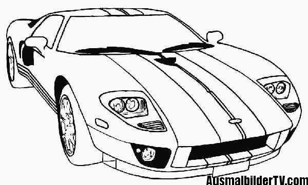 ausmalbilder autos zum ausdrucken | Malvorlagen | Pinterest ...