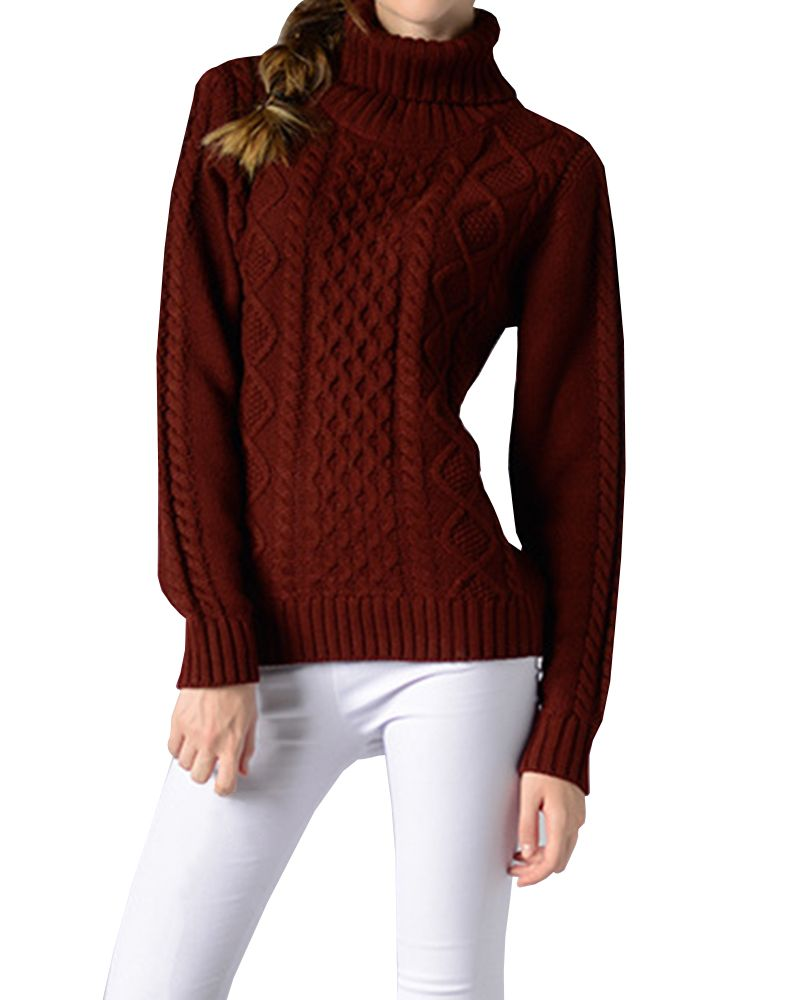 78386d5dcf4 Korean xxl Winter Sweater Women Loose Turtleneck Twist Coarse Knitted Thick  Warm Sweater Dress Pullover Coat Outwear