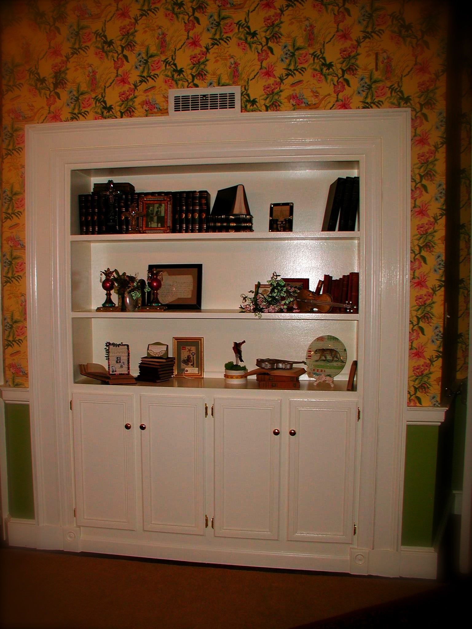 We Had A Bookcase And Cabinet Built Into The Closet