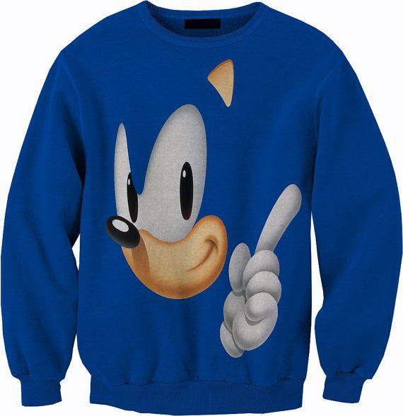 Sonic The Hedgehog Crewneck Sweater Sweatshirt Sonic 3 Shirts