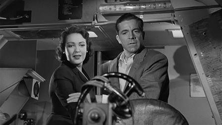 Zero Hour , 1957, Dana Andrews ., Linda Darnell,   Movie stars, Dana  andrews, Linda