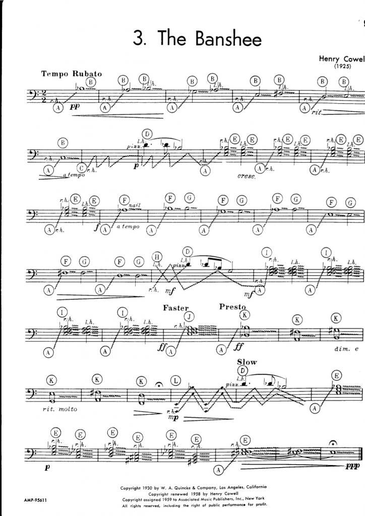 The Banshee, for open-string piano graphic notation Pinterest - tennis score sheet
