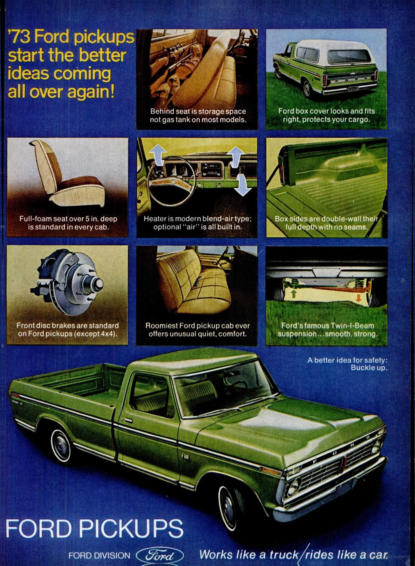 1973 Ford Truck F Series Pick Up Advertisement Ford Pickup