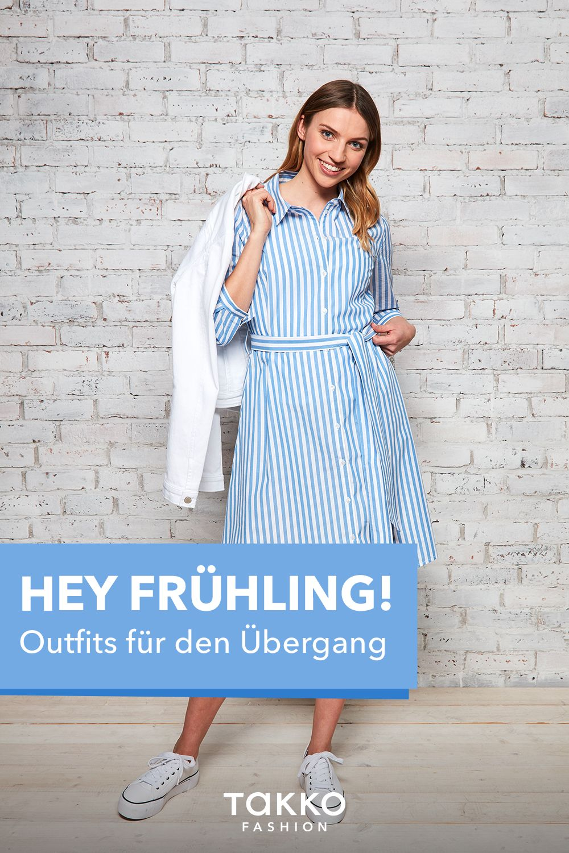 Hey Fruhling Wir Zeigen Dir Schone Outfits Fur Die Ubergangszeit Outfit Modestil Weisse Jeansjacken