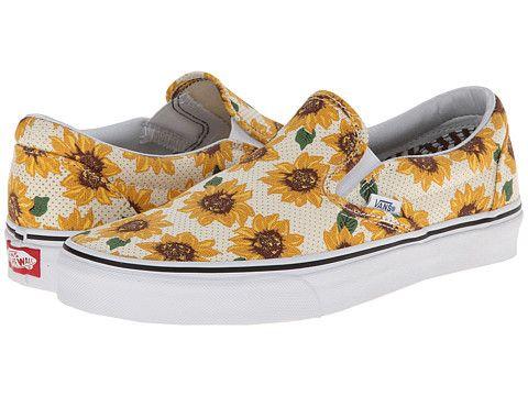 a82e01317e8 Vans Classic Slip-On™ (Sunflower) True White -  50 Zappos.com Free Shipping  BOTH Ways