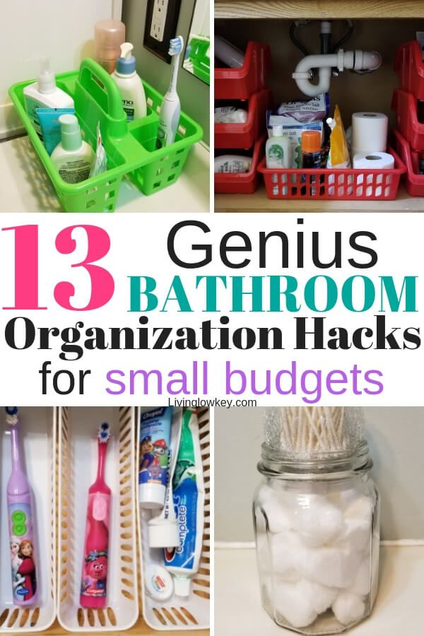 13 Insanely Cheap Bathroom Organization Ideas Found At The Dollar Tree images