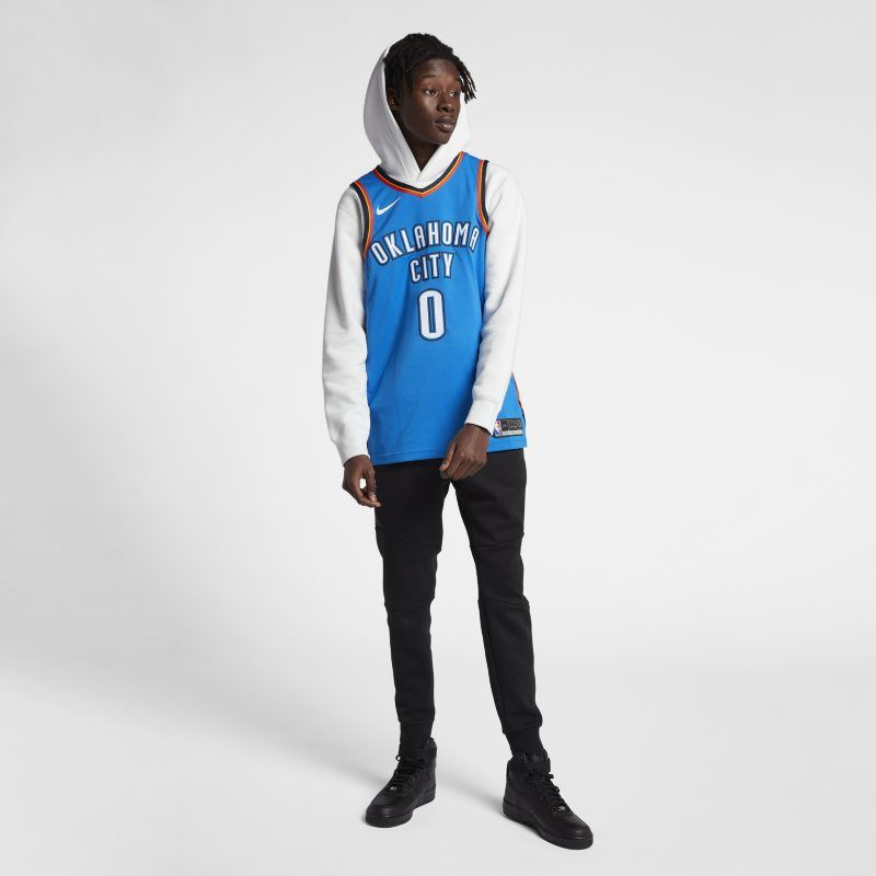 9703e218d123 Russell Westbrook Icon Edition Authentic (Oklahoma City Thunder) Men s Nike  NBA Connected Jersey - Blue