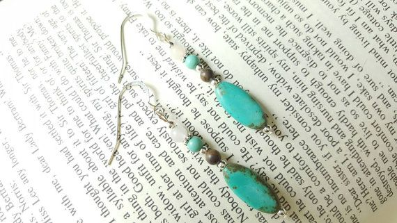 Hey, I found this really awesome Etsy listing at https://www.etsy.com/listing/212801876/turquoise-and-silver-drop-beaded