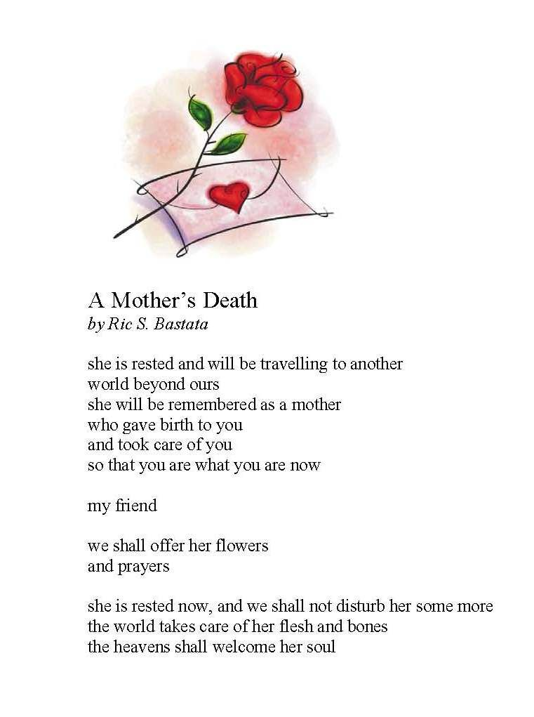 To my special friend whose mother passed away this week.. my