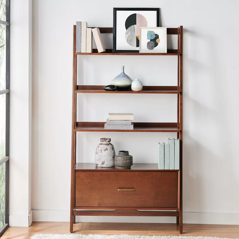 Dunkelberger Etagere Bookcase Reviews Joss Main Bookcase Mid Century Modern Bookshelf Ladder Bookcase