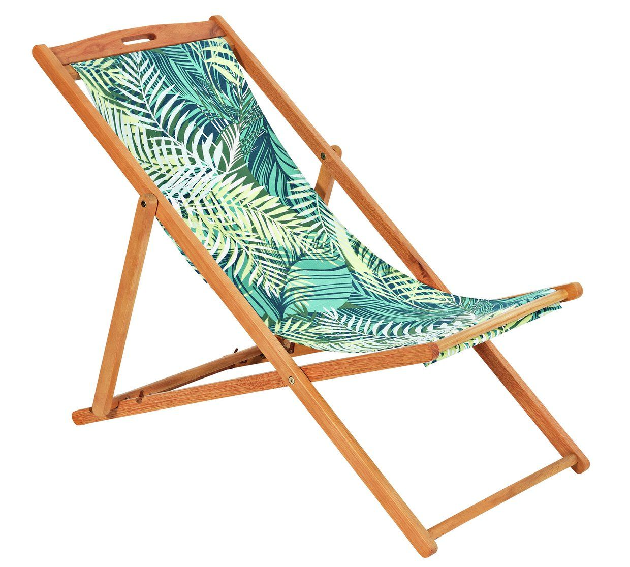 Buy HOME Deck Chair Palm Garden chairs and sun