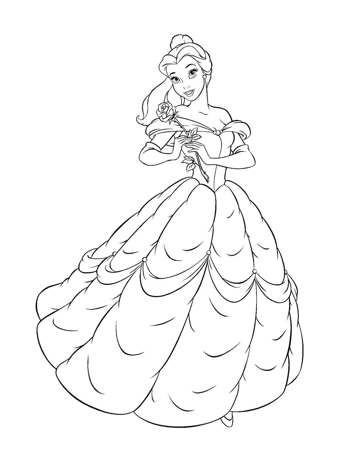 Free Printable Belle Coloring Pages For Kids Deti