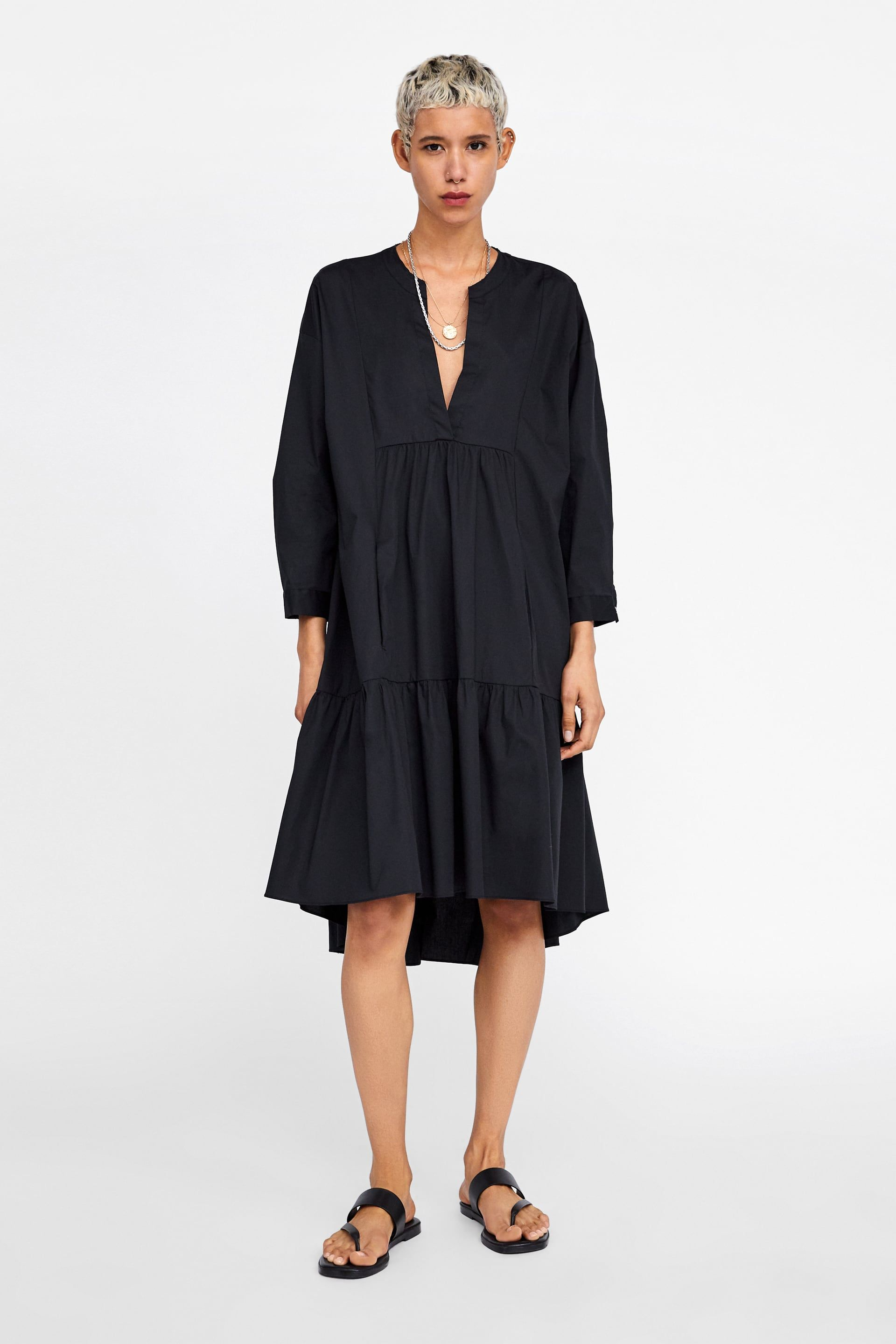 cb11cbabf5644b Long poplin dress in 2019 | T H R E A D S | Poplin dress, Dresses ...