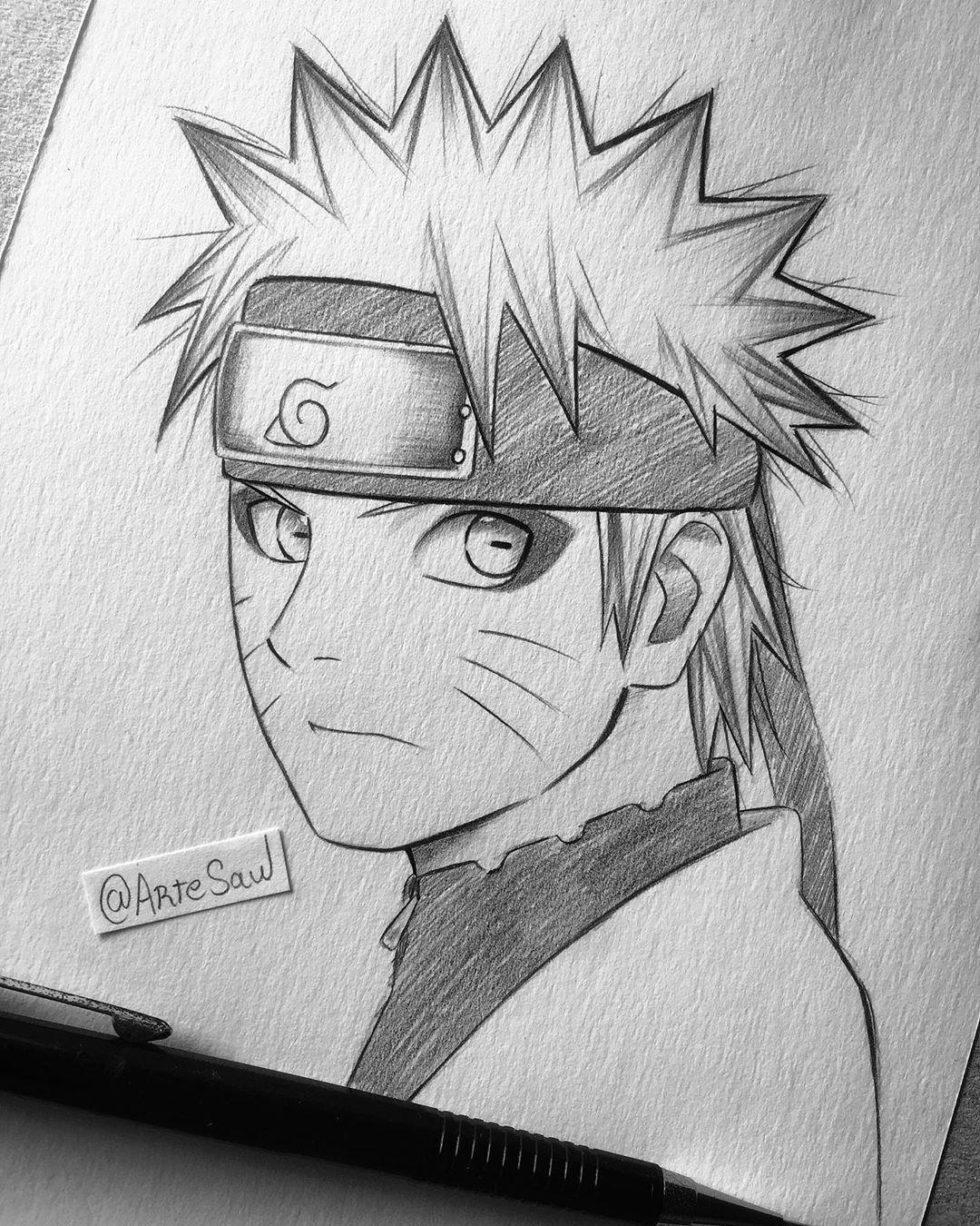 "Photo of artesaw ✍?✨ on Instagram: ""Naruto sage mode quick sketch . Follow me @artesaw"""