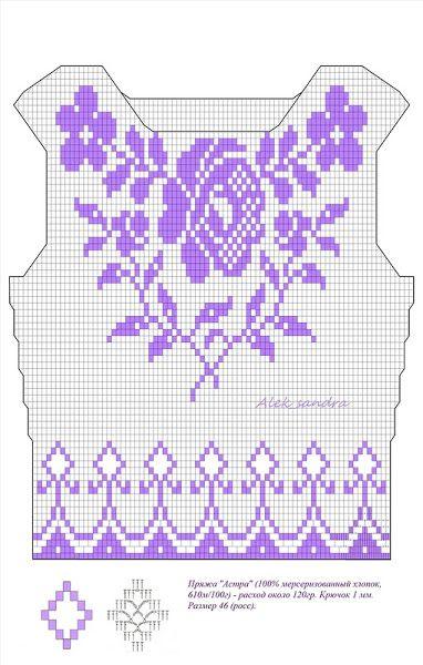 filet crochet pattern | Handarbeit stricken & häckeln | Pinterest ...