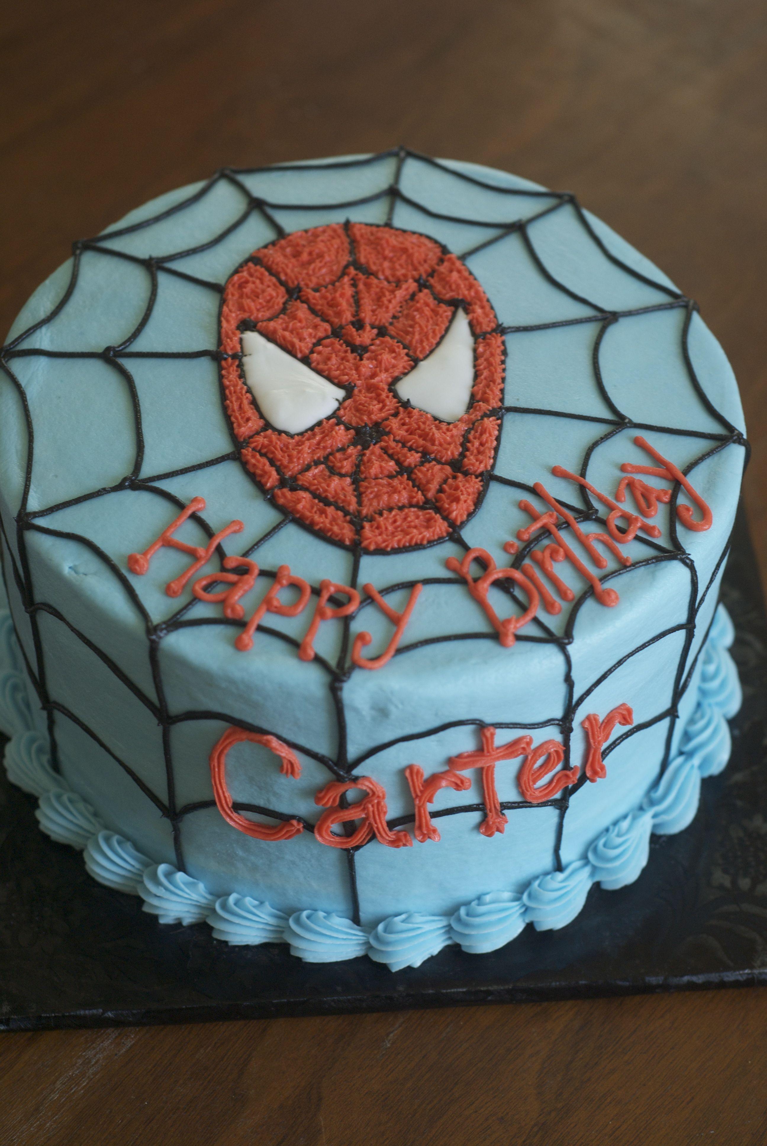 Buttercream Spiderman Cake Cake Cupcake Cakes Birthday Fun