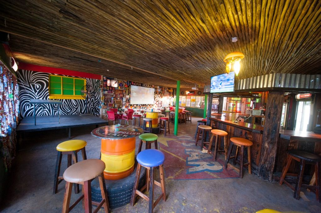 Have a drink in African style. African theme, Shanty