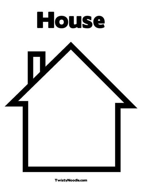 blank house template